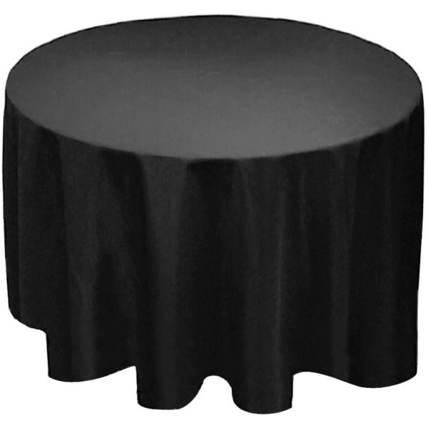 """top popular Wholesale-Factory Supply 90"""" Round Polyester Tablecloth Table cover Cloth White black ivory-Wedding party 2020"""