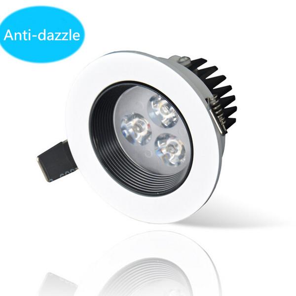 Venta al por mayor High super Dimmable 9W Warm White Cold downlight Epistar LED lámpara de techo Empotrada Spot light para iluminación para el hogar AC85-265V