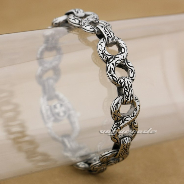 316L Stainless Steel Mens Biker Rock Punk Bracelet 4B006A 6 Lengths