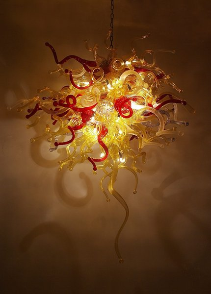 Led Source 100% Hand Blown Borosilicate Glass Dale Chihuly Murano Art Craft Murano Glass Chandelier Lighting