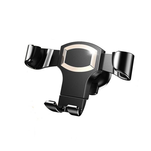Monture de téléphone de voiture, conception auto-bloquante de gravité et base antidérapante pour iOS Smartphone Android, berceau universel de téléphone portable de voiture - or