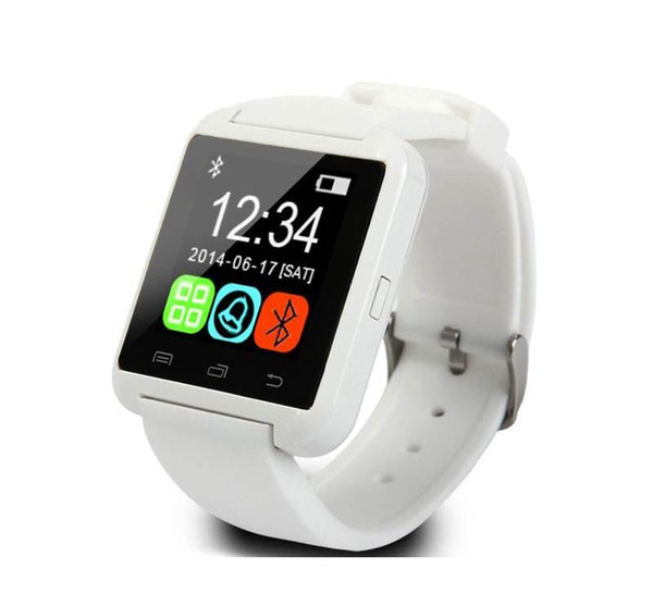 10pcs Bluetooth Smart Wrist Watch U8 Watches no Altimeter Smartwatch Wristwatch For iPhone Samsung HTC Sony Cell Phones Wholesale Free DHL