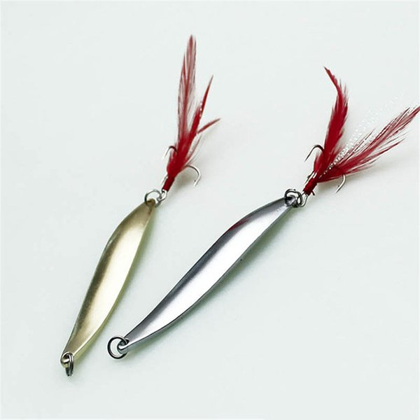 10PCS Gold Silver Metal Lure Sequins Fishing Baits Spoon Hard Baits S Shape Lifelike Fake Fishing Lure for Deep Sea