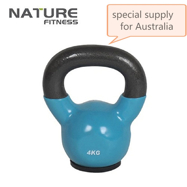 Wholesale- 4-24KGS BRAND NEW VINYL Kettlebell Lifting Dumbbells Exercise Training Tools-Vinyl Dipped with Flat Rubber Base