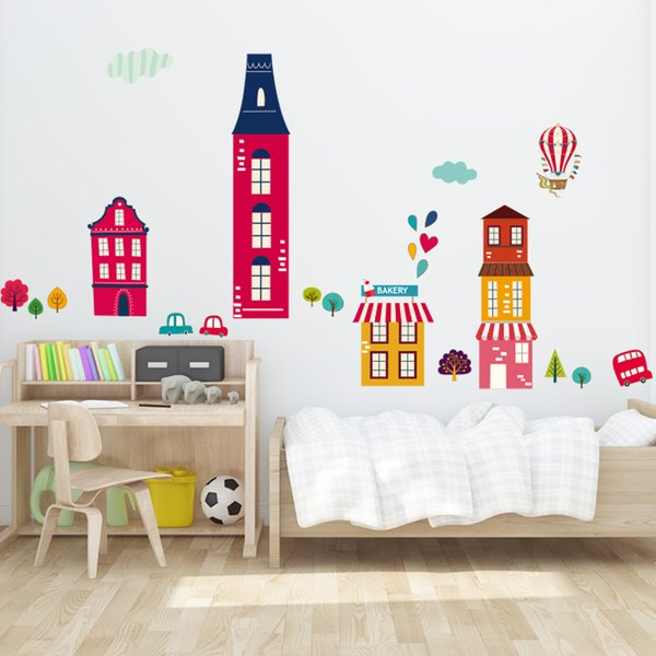 Acquista Loving Town Sticker Murale Home / Store Decor Fai Da Te ...