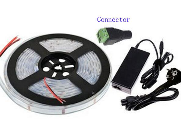Waterproof LED Strips Light IP67 12 Volt 5 Meter per Roll 300 LEDS 60leds/m Flexible Rope Red Blue Green Warm white Holiday Decoration MOQ10