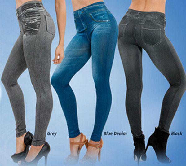 best selling Women Jeggings Fleece Inside Winter Leggings Genie Slim Jeggings 3 Colors Women Jeggings For Women Fashion Leggings Two Real Pockets