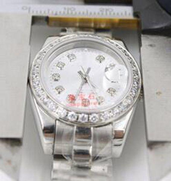 Las mejores marcas de lujo Presidente Fecha de diamante Relojes de acero inoxidable Precio más bajo para mujer Señoras Reloj automático mecánico Mujer Lady Girls