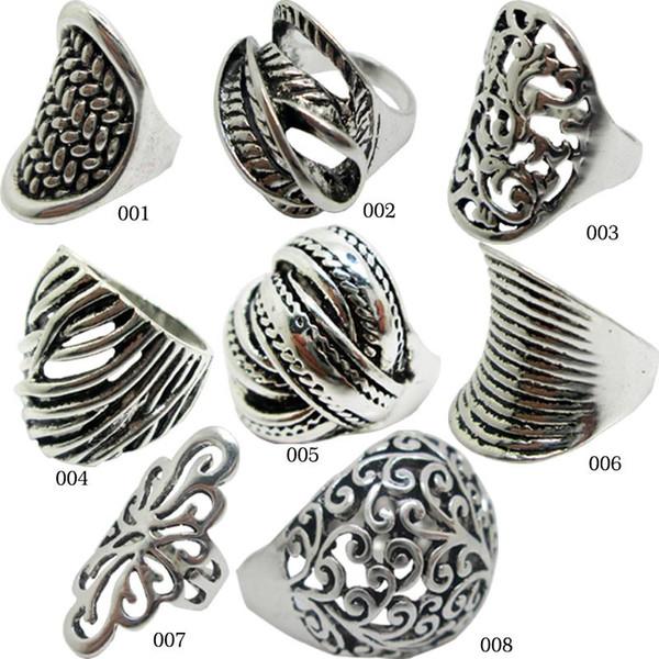 2015 verkauf von 925 Sterling Silber Multi Styles Antik Silber Ring Seil Kabel Draht Ringe Zink-legierung Schmuck Vintage Ringe Für Frauen