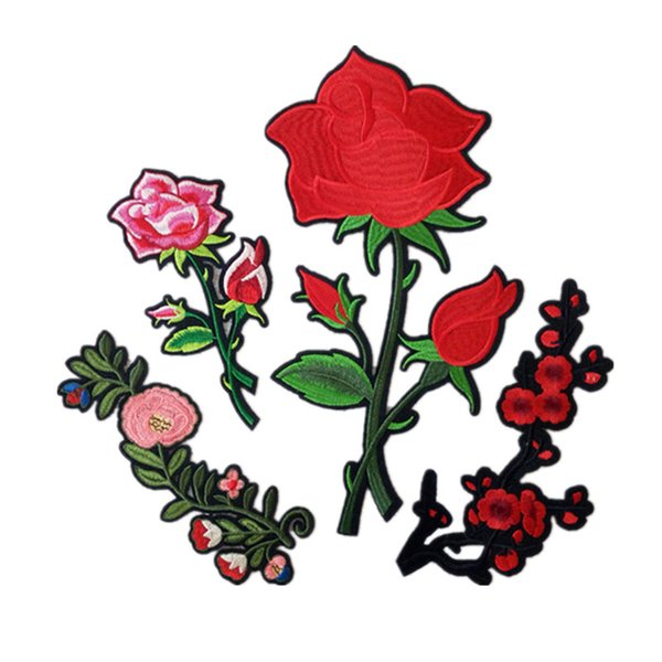 Embroidered cloth patch flower shape sewing decorative appliques Back gum ironing stick patch Skirt T-shirt clothing accessories DL_CPIF002