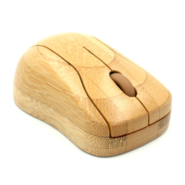 Großhandel Bambus 2,4G Wireless Mouse Natural Handmade Optische Holz Wireless Mäuse Holz Maus mit USB-Empfänger für Laptops Desktop-Computer