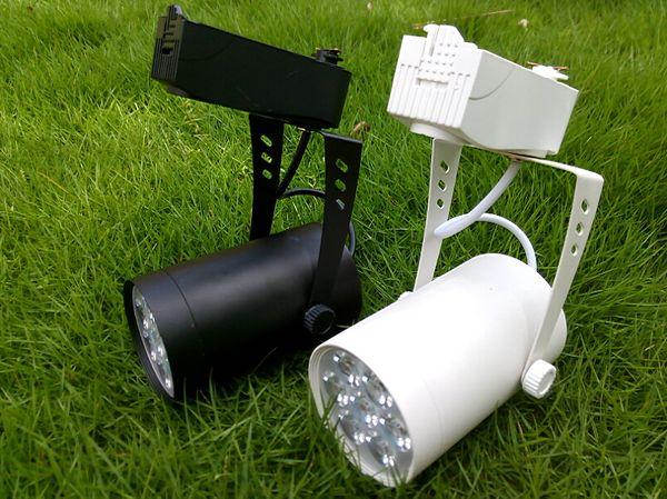 7W Indoor LED Track Rail Spotlight Bulb Energy Saving Home Decorative Bulbs 7X1 Watt Lighting Lamps 7 Pieces Chips Downlights AC85-265V CE