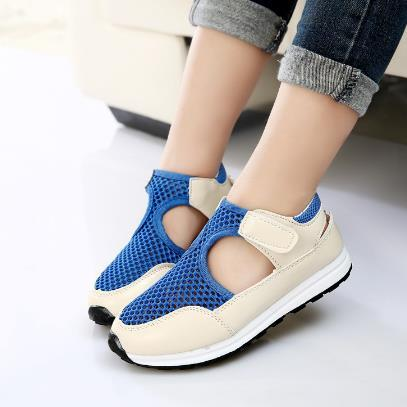 2016 New Fashion Summer Children Shoes Air Mesh Boys & Girls Sandals Breathable Cut-outs Kids Sneakers Unisex EU 21-36