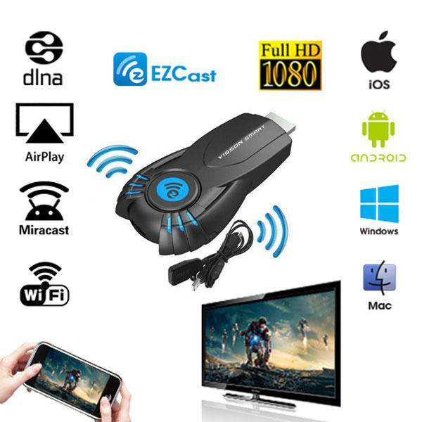 Smart Tv Stick EZcast Android Mini PC with function of DLNA Miracast Airplay better than Android tv box google chromecast chrome cast ipush