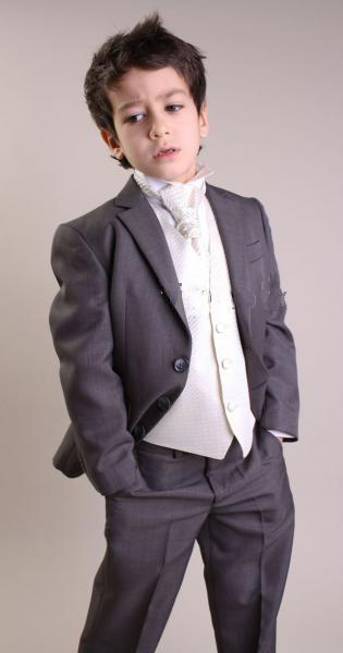 Hot Sale Charcoal Boy Suit Three Buttons Formal Occassion Wear Wedding Party Dress(Jacket+Vest+Pants+Tie)