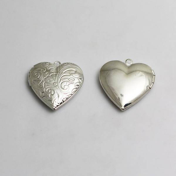 Beadsnice coração foto medalhão coração colar de bronze pingente de coração charme do vintage níquel livre e sem chumbo ID 3358