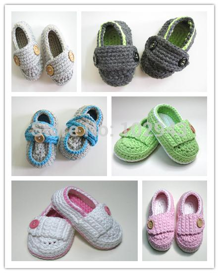 2015 Crochet newborn baby girl shoes baby moccasins hand knitted baby shoes crochel shoes sole infant girl shoes