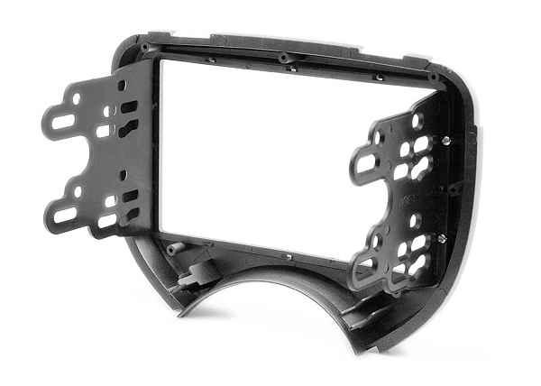 CARAV 11-395 fascia facia panel frame for NISSAN Aprio RENAULT Logan double DIN