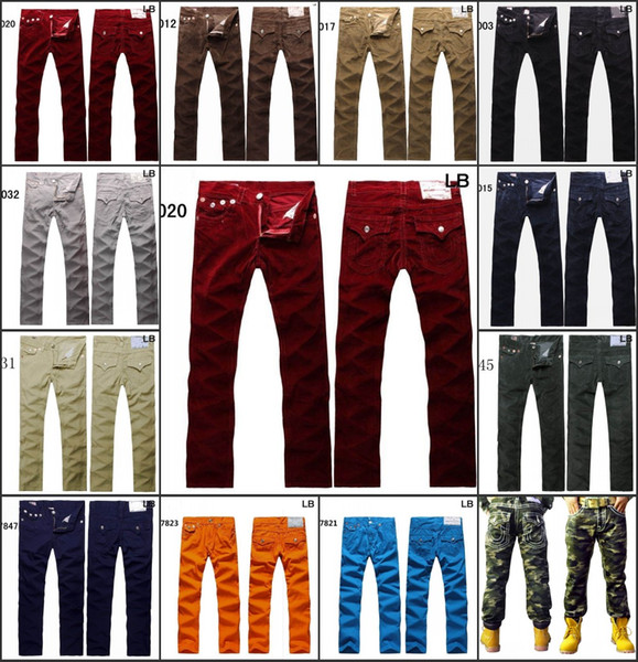 Wholesale DHL Free Shipping U.S famous Brand Men Jeans Pants Trousers Denim designer Straight Men Pants Casual Army Camo Jeans size 30--40