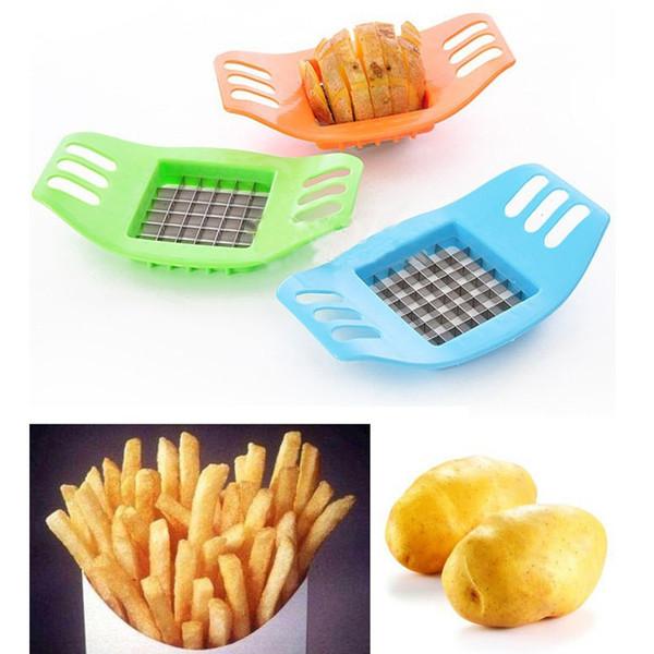 2017 hot French Fry Potato Chip Cut Cutter Chopper Chipper Blade Vegetable Home Fruit Slicer