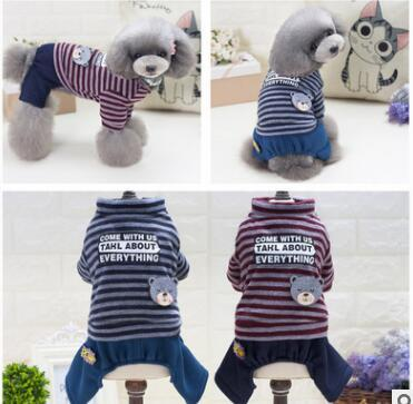 Pet Dog Winter Clothes Christmas Striped Letter Dog Jacket Coat Fashion Pet Costume Clothing Warm Coat For Chihuahua Top Quality 1082