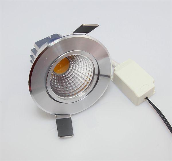 Di alta qualità 50000 ore di vita COB Dimmerabile 12W Led Down Light Led Apparecchio Downlight Led da incasso Luci 110-240 V led plafoniera luci