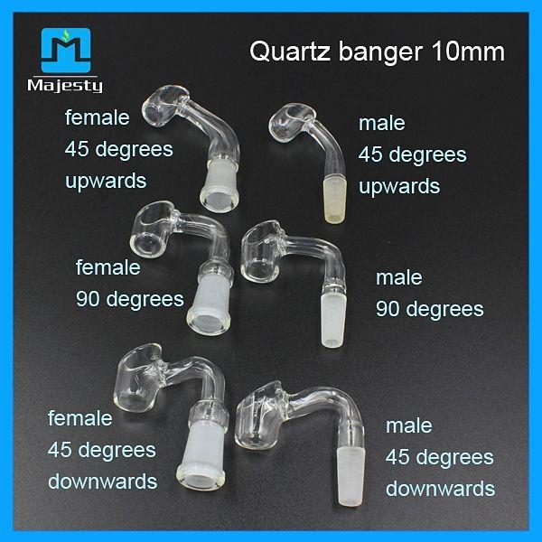 Alta qualità 4 millimetri di spessore quarzo banger chiodo 45 e 90 gradi 14mm / 18mm maschio / femmina vendita congiunta prezzo di fabbrica