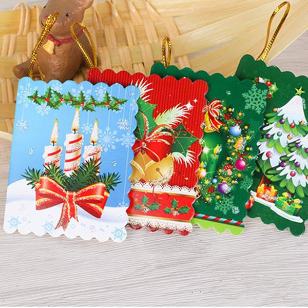 Mexican Christmas.Christmas Cards Printed Xmas Ornaments Wishing Card 7x5 5cm Sweet Wish Lovely For Birthday Kids Gift With Retail Package Mexican Christmas Decorations