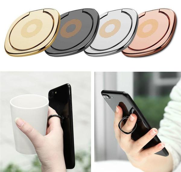 DHL Free 360 gradi in metallo anello di ritenzione portachiavi supporto per telefono cellulare smartphone dito per iPhone 8 Samsung S8 Tablet con sacchetto d'oro