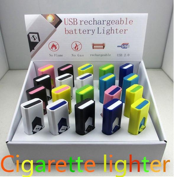 Accendino USB di nuova moda Accendini da torcia ricaricabile USB Accendini elettronici per sigarette accendino antivento senza fiamma per