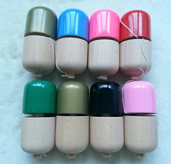 200pcs 1 hole kendama pill wood Kendama pill 11*5*5cm kendama toys Ball Toy Japanese Traditional Wood Game PU Paint