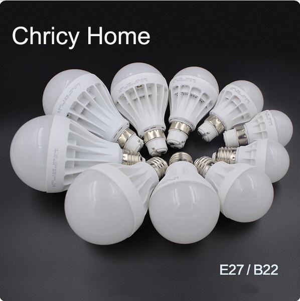 LED Bulbs E27 B22 Globe Bulbs Lights 3W/5W/7W/9W/12W SMD5730 LED Light Bulbs Warm/Pure White Super Bright Energy-saving Light
