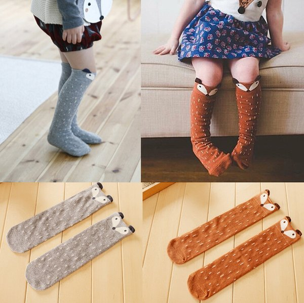 83b27042f Fox Socks Baby Animal Socks Girl Knee High Socks Cute Baby Girl Long Leg  Warmers Child