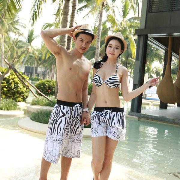 f4aeed9c45 Wholesale 2015 new South Korean couple swimsuit spa sexy swimwear bikini  gather quick-drying beach