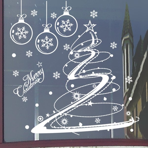 M001 Merry Christmas Removable Snow Ball Wall Sticker Decal Home Window Decor Wall Stickers For Kids Room Nursery Market Mural