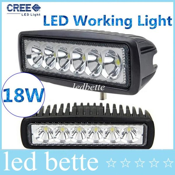 epacket LED Work Light Mini 6inch 18W UTV SUV ATV 4WD Boat Truck Tractor 4x4 accessories off road 10-30V Spot Flood Beam