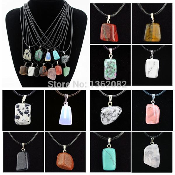 Mücevher toptan 12 adet/lot Moda erkek kadın çılgın tasarım doğal taş süs ve kolye hediye MN446