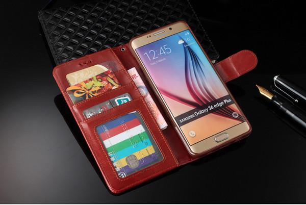 Brieftasche pu ledertasche tasche für i7 7 plus 6 plus 6 5 galaxy s6edge s6 s5 s4 note5 4 mit bilderrahmen kreditkarte cash premium