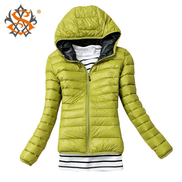 top popular HD-New 2016 Fashion Parkas Winter Female Down Jacket Women Clothing Winter Coat Color Overcoat Women Jacket Parka 538TN 2019