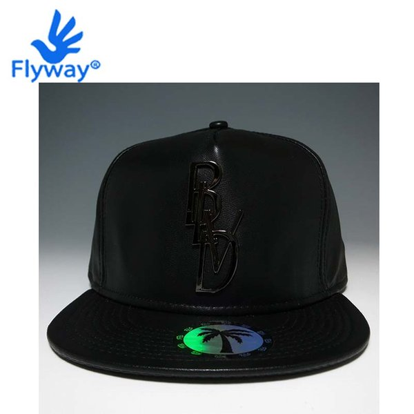 Wholesale-Cap Hat Hip Hop Snapback Original Full Black Leather BLVD SUPPLY Gansta Bulls