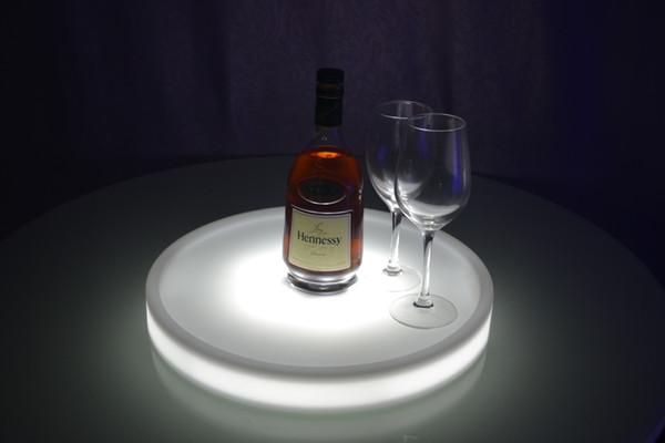 Бесплатная доставка водонепроницаемый светодиодный свет вверх сервировочный лоток Multi цвета перезаряжаемые светящиеся светодиодные лотки свет ведро льда+24 ключей пульт дистанционного управления