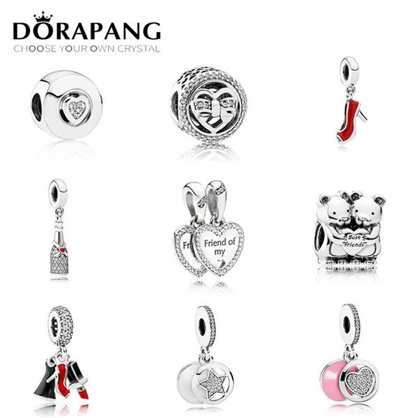 DORAPANG Lovely Charms Bead High Heels Pendant Fit A Early Autumn Series s925 Sterling Silver DIY Bracelet Wholesale factory