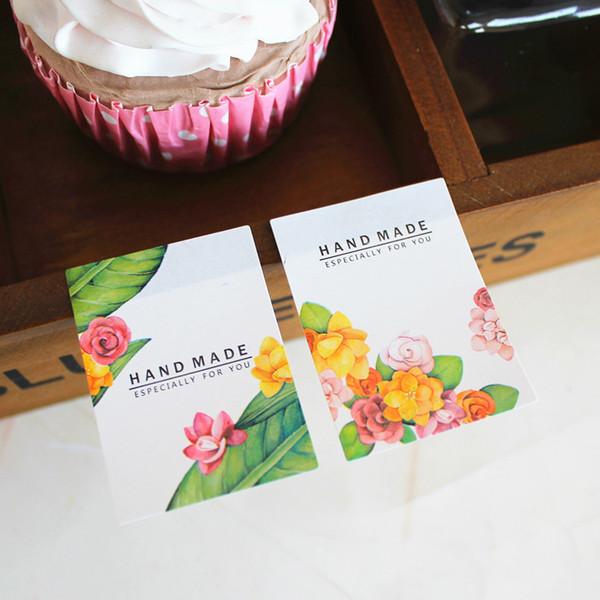 120 pcs À La Main Especial Pour Vous Flower Design Seal Autocollant Cuisson Paquet Étiquettes En Papier Étiquettes