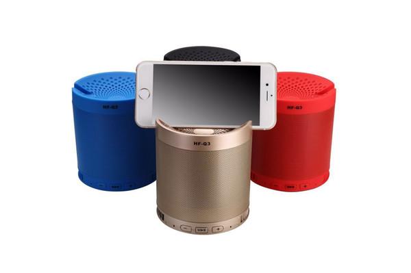 30pcs--Creative Outdoor Bluetooth Speaker HF-Q3 Wireless Portable Mini Speakerphone Stand Subwoofer Card Speaker