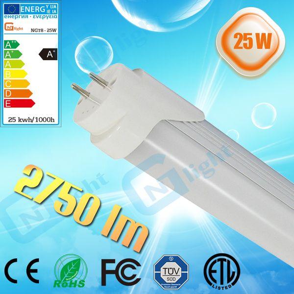 Energy saving light 5ft t8 led tube high lumen 1500mm 25W grow light led fluorescent tube lamps frosted transparent cover