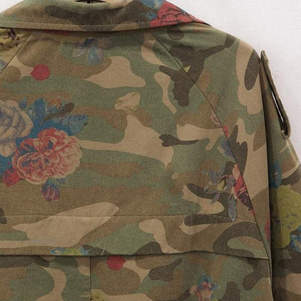 best selling Wholesale-Women Camo Jacket Desert Camouflage Coat Utility Outdoor Coat