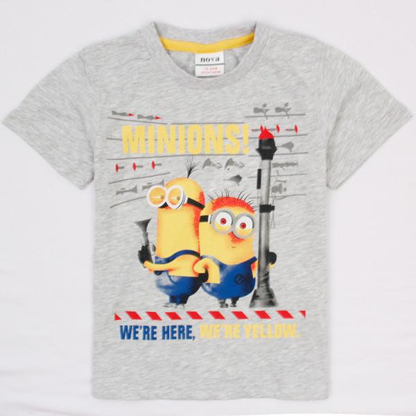 03ed4a4ffa373 2019 Minion Despicalbe Me 2014 Summer Nova Most Popular T Shirts Cartoon  Designs For Children Boys Grey T Shirt Cheap Cute Baby Clothes C4948# From  ...