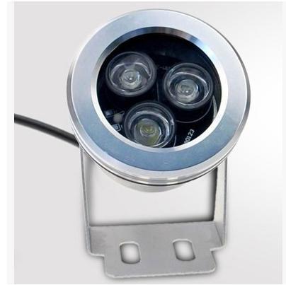 Projecteur LED étanche 3W (3 * 1W) 12V sous-marin extérieur Lumière infrarouge LED Blanc chaud Blanc froid étanche IP67 Garden Lights