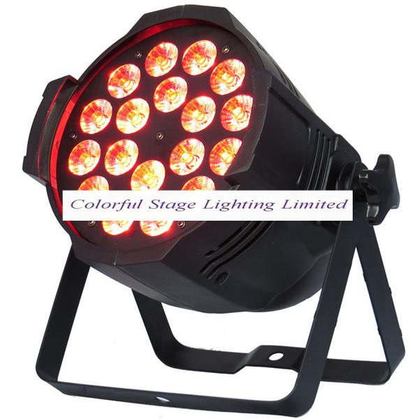 Free shipping Top selling High quality 18X15W Stage Lighting RGBAW 5in1 LED Par 64 LED Par64 Can