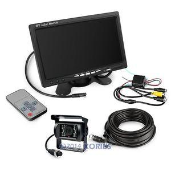 """best selling 12-24V Car Reversing Kit 7"""" TFT LCD Monitor + CCD IR Backup Camera For Van Truck"""